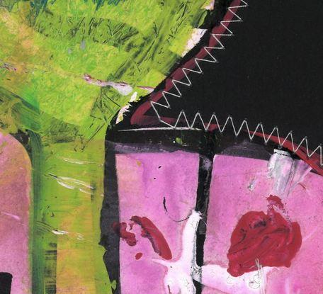 (CreativeWork) Stitch 09 by Talia King. Mixed Media. Shop online at Bluethumb.