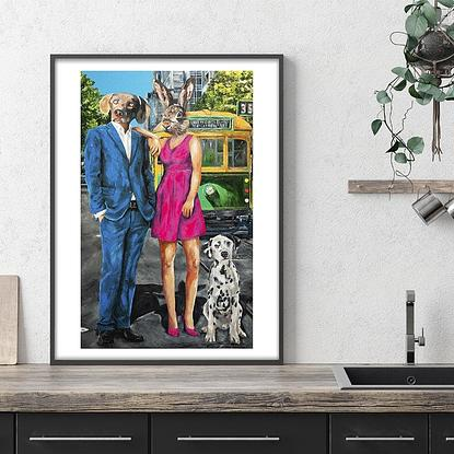 (CreativeWork) We Love Melbourne (Print) by Gillie and Marc Schattner. Reproduction Print. Shop online at Bluethumb.
