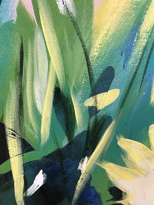 Large bright abstract of flowers