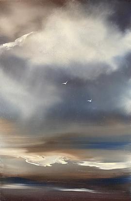 Moody sky over a beach