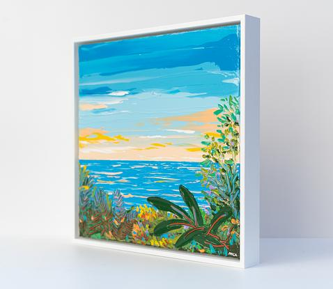 Sea and sky with trees