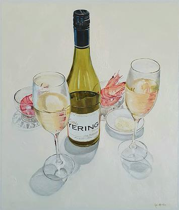 Yering wine art painted by Rob Kennedy