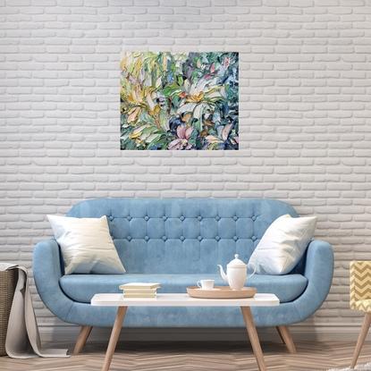 Impasto flower painting
