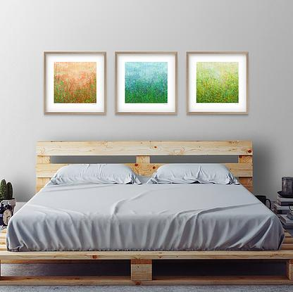 (CreativeWork) Garden Series - Set of 3 - 52cm Natural Frame Ed. 17 of 35 by George Hall. Reproduction Print. Shop online at Bluethumb.