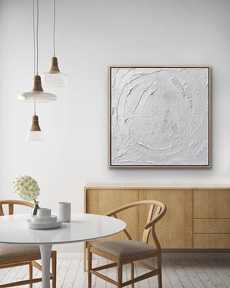 Textured modern white abstract