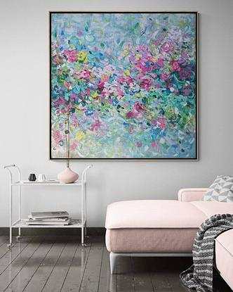Monet inspired suggestive floral.
