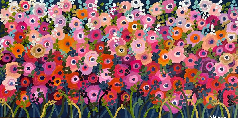 Bright abstract flowers