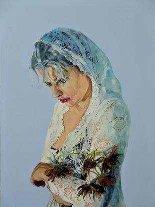 (CreativeWork) Blue Mourning Ed. 1 of 20 by Mertim Gokalp. Reproduction Print. Shop online at Bluethumb.