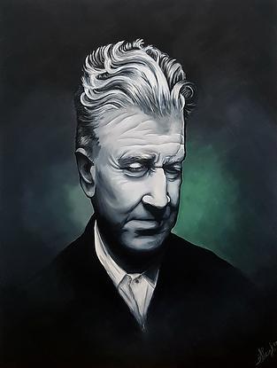 (CreativeWork) The Master: David Lynch by Stephanie Brook. Acrylic. Shop online at Bluethumb.