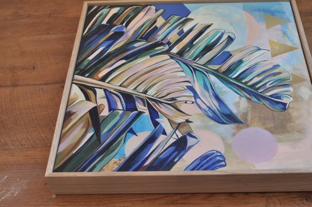 (CreativeWork) Dreamy Leaves by Tamara Armstrong. Acrylic. Shop online at Bluethumb.