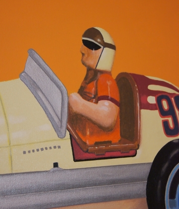 (CreativeWork) The Racing Car by BRETT ROSE. Acrylic. Shop online at Bluethumb.