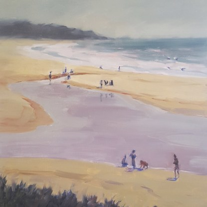 (CreativeWork) PLAYING IN THE LAGOON by Peter Studley. Oil. Shop online at Bluethumb.