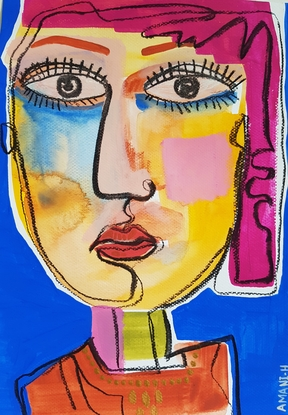 (CreativeWork) Ready or not by Amani Haydar. Mixed Media. Shop online at Bluethumb.