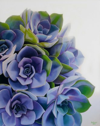 (CreativeWork) Succulent Beauty  by Bec Bartell. Acrylic. Shop online at Bluethumb.