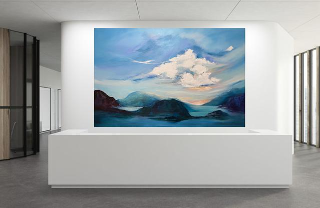 (CreativeWork) Convergence (large scale art)  by Kat Las. Acrylic. Shop online at Bluethumb.