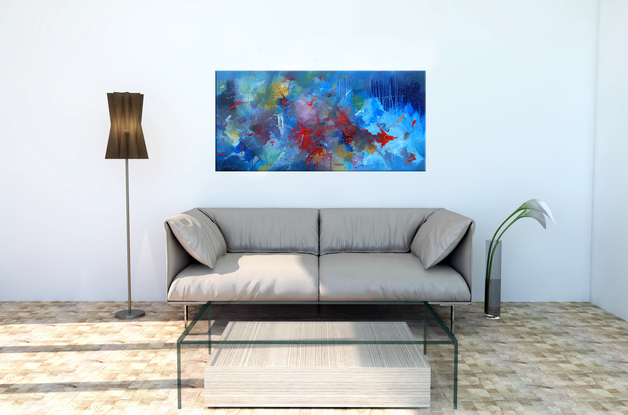 (CreativeWork) we search together by Trevor Salisbury. Oil. Shop online at Bluethumb.