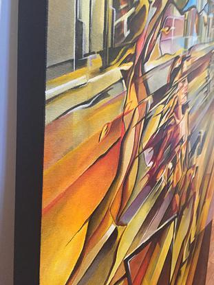 (CreativeWork) City and wind by Samira Khadivizand. Acrylic. Shop online at Bluethumb.