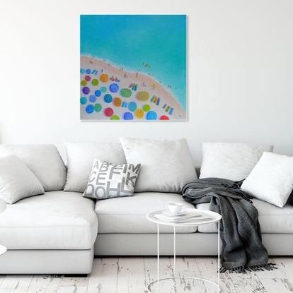 (CreativeWork) One Summer - Beach art by Jan Matson. Oil. Shop online at Bluethumb.