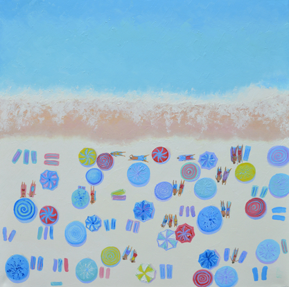 (CreativeWork) FEELS LIKE SUMMER - beach painting by Jan Matson. Oil. Shop online at Bluethumb.