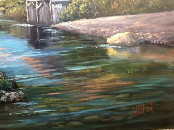 (CreativeWork) First light on Cradle Mountain, Tasmania - ready to hang   by Christopher Vidal. Oil. Shop online at Bluethumb.