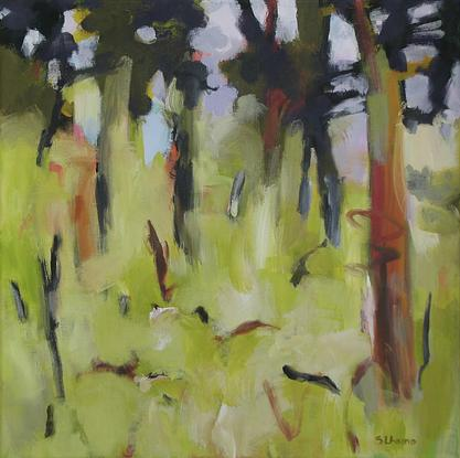 (CreativeWork) Fallen branches by Susan Lhamo. Acrylic. Shop online at Bluethumb.