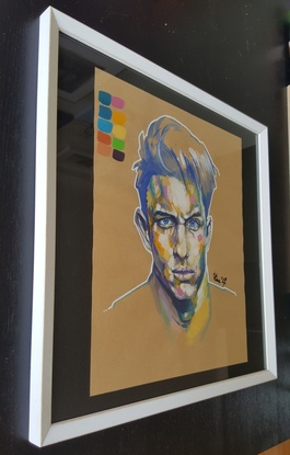 (CreativeWork) A Little Painting by Kenneth Chu. Other Media. Shop online at Bluethumb.