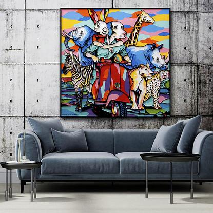(CreativeWork)  They all left together towards a better future by Gillie and Marc Schattner. Other Media. Shop online at Bluethumb.