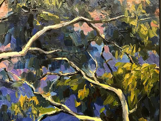 (CreativeWork) Gum tree XIV-S  by Fangmin Wu. Oil. Shop online at Bluethumb.