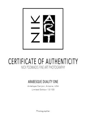 (CreativeWork) Arabesque Duality One Ed. 13 of 100 by Nick Psomiadis. Photograph. Shop online at Bluethumb.