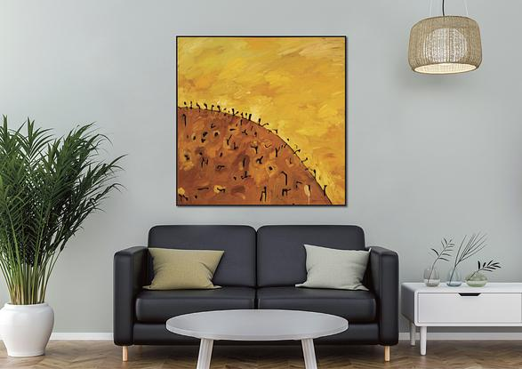 (CreativeWork) Lost Horizon I by Michael Wolfe. Acrylic. Shop online at Bluethumb.