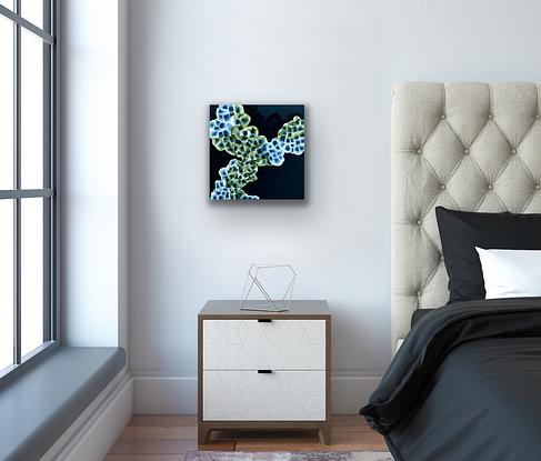 (CreativeWork) Bio Bloom Darkfield I – Original Abstract Painting by Jacquelyn Stephens. Acrylic. Shop online at Bluethumb.