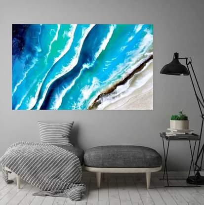 (CreativeWork) Wave after wave  by EVA JOHNOVA. Resin. Shop online at Bluethumb.