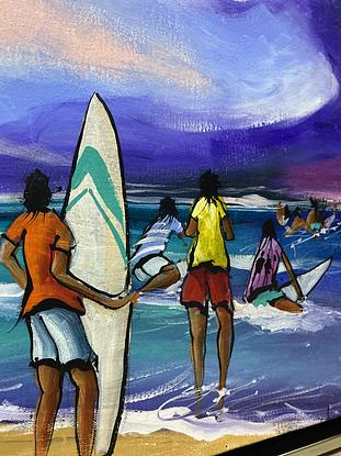 (CreativeWork) Never Ending Journey - Original Artwork  by Donald James Waters OAM. Acrylic. Shop online at Bluethumb.