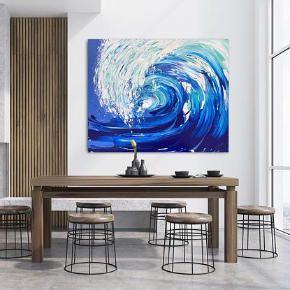 (CreativeWork) Wave Series - Spring 2020 by Annette Spinks. Acrylic. Shop online at Bluethumb.