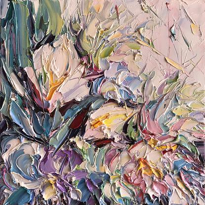 (CreativeWork) Bunch of love No 28 by Liliana gigovic. Oil. Shop online at Bluethumb.