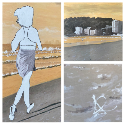 (CreativeWork) Run Baby Run Original by Jayne Curle-The Self Conscious Extrovert. Oil. Shop online at Bluethumb.