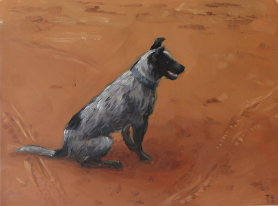 (CreativeWork) Dusty by Jemma Cakebread. Oil. Shop online at Bluethumb.