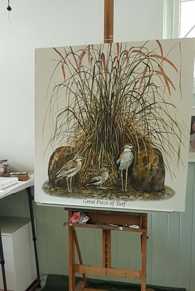 (CreativeWork) the curlews by Claire Souter. Oil. Shop online at Bluethumb.