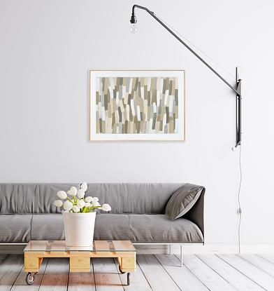 (CreativeWork) Sand Lines , Framed  by David Weir. Acrylic. Shop online at Bluethumb.