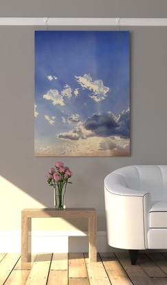 (CreativeWork) Warm Light, Cool Air by David Tracey. Acrylic. Shop online at Bluethumb.