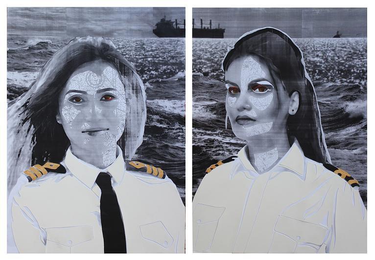 (CreativeWork) Aye Aye Captain by Joni Dennis. Mixed Media. Shop online at Bluethumb.